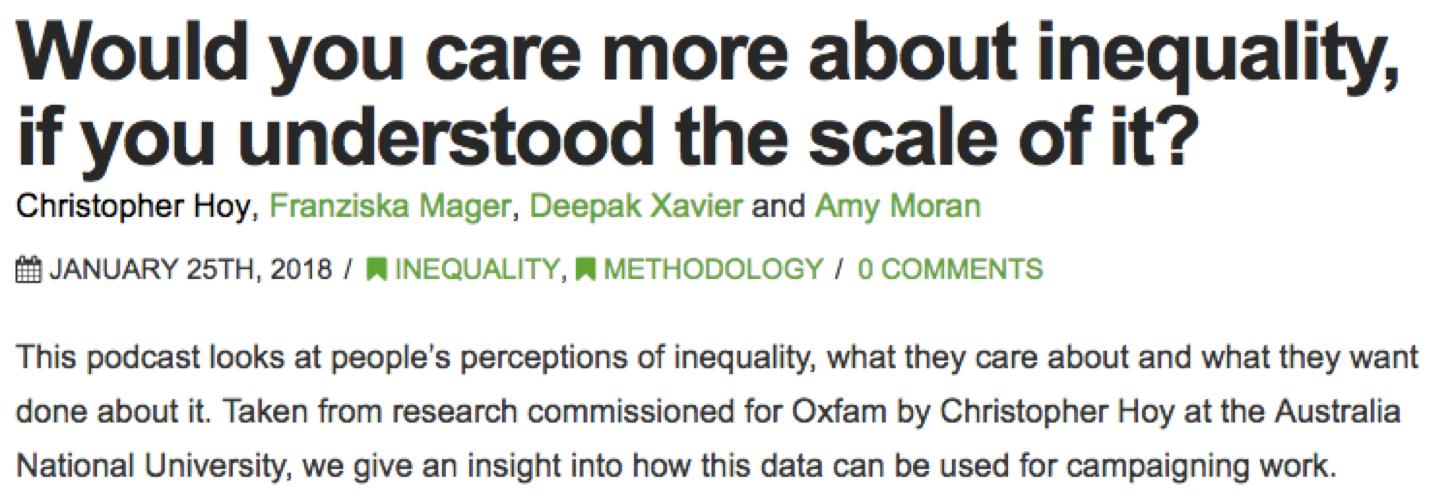 Oxfam podcast